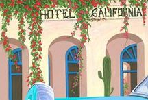 On a Dark Desert Highway.... / cool wind in my hair..warm smell of colitas rising up through the air.. Welcome to the Hotel California / by Sandy Blazewicz Strom