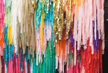 Parties: geometric gem colourful