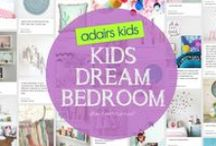 #Adairs Kids Dream Room / An inspirational board of kids bedroom styling, for boy & Girl!  A funky on trend monochrome boys bedroom drawing inspiration from the #troublemaker pillow and Mix It Up Triangles Range of sheets.  The sweet yet quirky pastel girls bedroom draws inspirations from the Adairs confetti sheet set.   Enjoy looking through by hand selected inspiring images for #adairs kids dream bedroom
