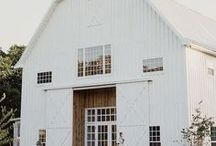 ! ~Inspiration-Barns~ ! / barns, white barn, barn ideas, barn decor, farmhouse decor, country decor, barn style, barn wedding
