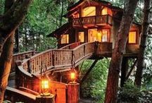 Different Living Spaces & Buildings / Mainly inspired by actual tree houses - but I feature other old, wonderful or quirky buildings and living spaces.