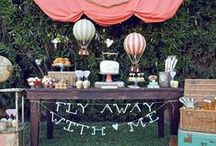 A Perfect Production #6 / Janelle's Baby Shower Air Balloon, baby whisper flowers, globes, Navy Blue, Teal and White / by Nicole Palazzolo