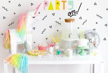 Parties: whimsical rainbow unicorn party