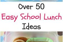 Quick & Easy School Lunches / Quick, Healthy and Easy #school #lunches for kids. Great for busy days!