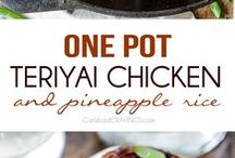 One-Pot Meals / Easy and quick #one-pot meals. Spend more time enjoying your meal and less time cleaning up.