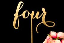 Notable Numbers | Decor Inspiration / Products and events associated with Mahaffey Tent & Event Rentals