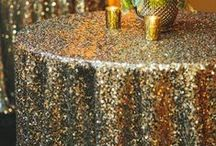 Glitter in Gold | Decor Inspiration / Products and events associated with Mahaffey Tent & Event Rentals