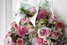 Shabby chic pretty flowers. / Florals displayed in the best of shabby chic.  / by Julie Mariner