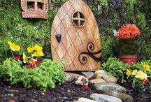 Fairy houses and gardens. / Tiny little homes and gardens for those elusive fairies. Exquisite!  / by Julie Mariner
