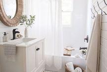 Bathroom Inspiration / Bathroom decorating, vintage, modern, farmhouse, rustic, diy