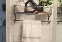 Rustic Organization / Rustic, farmhouse, vintage style ideas for organization in the home