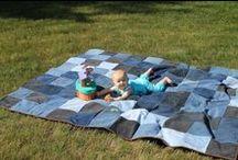 Picnic Quilts - Ideas, Patterns, Fabrics / by Pam Douglass