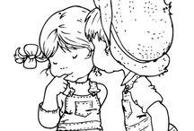 Boy & Girl Line art / by Sonja JM