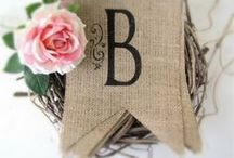 The Cottage on Burlap Lane / Burlap, Black, Linen & Lace