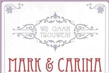 Wedding invitations ~ Trouwkaarten / Mooie en persoonlijke #trouwkaarten van Typischmies.nl en andere ontwerpers.