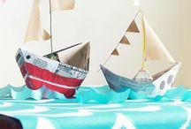 Nautical party ~ Varen feestje / Leuke ideeën voor een #kinderfeestje in #nautisch thema. #varen #zee #scheepvaart #nautical