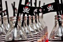 Pirate party ~ Piraten feestje / Stoere ideeën voor #piraten #kinderfeestjes.