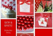 Polkadot party ~ Rood met witte stippen feestje / Leuke ideeën voor de rood net witte stippen feestje #polkadot #paddestoel