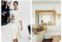 Fashion Inspiring Decor / Trends in fashion follow closely to the ones in the decorating world. Why not look at fashion for inspiration for your home?