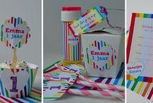 Rainbow party ~ Regenboog feestje / #kinderfeestjes in alle kleuren van de #regenboog.