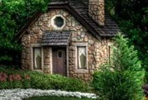 Tiny House and Cottages / Tiny Houses and items that fit into them. Small Cottages with ponds and walkways.