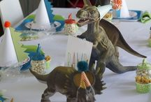 Dinosaur party - Dino feestje / De leukste ideeën en traktaties voor #dino #feestjes.