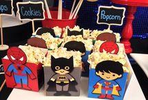 Superhero party ~ Superhelden feestje / Leuke ideeën voor de #superhero feestje voor stoere jongens. #superhelden #superman #spiderman #batman