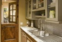 Kitchens and Dining Rooms / Wood countertops, farmhouse sinks, beautiful windows, dutch doors, and pretty tables / by Rhonda Williams Hanson