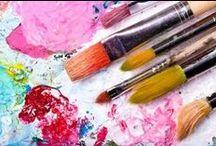 Mixed media / akvarell, akryl, medier, olja, pastell, alkohol