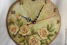 Decoupage Wall Clocks