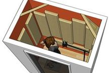 Booth Construction Schematics & Ideas / Overviews of layout for optimum acoustics.