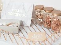 Stationery Addict / stationery, desk organisation, cute office decor, office supplies, office, home office, cute notebooks, cute stationery, pretty stationery, rose gold, copper