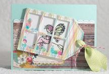 PPP: Stitched Duo 1 Inspiration / A board filled with inspiration using the Pretty Pink Posh die set: Stitched Duo 1