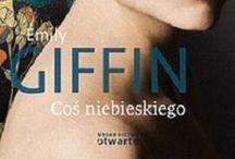 """Something blue / Tablica zainspirowana książką """"Coś niebieskiego"""" (""""Something blue"""") Emily Giffin. Wydawnictwo Otwarte."""