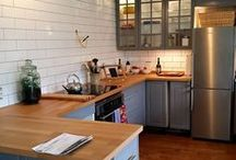 KITCHEN MAKEOVER / 70's builder cabinets give way to open, spacious kitcehn