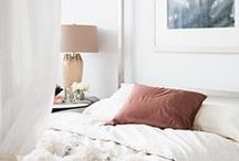 b e d r o o m / Bedroom design, bedding / by Elizabeth Lawson Design