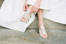 WEDDING SHOES / Here you'll find our favorite wedding shoe shots from the best photographers and stylists in the biz to inspire you for your DIY wedding. We've also included our favorite flats, heels, pumps, and sandals from Once Wed and around the web. After all, shoe love is true love!