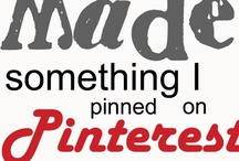 Check that off my list!! / Pinterest Projects Completed!! And the graveyard for recipes I've tried and DID NOT care for! / by Paula Kennedy