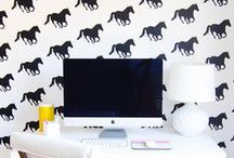 Offices + Supplies. / Great ideas for creating the perfect office. / by Sarah Hearts