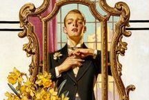 J.C. Leyendecker / Joseph Christian Leyendecker (March 23, 1874 – July 25, 1951). Best known for his poster, book and advertising illustrations.  During the Golden Age of American Illustration,  Leyendecker produced 322 covers for The Saturday Evening Post alone.