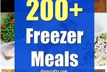 Food~Freezer Meals, Homemade Prepared Dinners