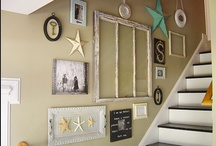 Wall Galleries & Decor / Wall Galleries, floating shelves, wall decor, picture arrangement ideas... / by Morgan Smith {California To Carolina}