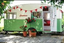 Travel Trailer Reveries / Cutely decorated trailers, from vintage to modern; elegant to whimsical; country to kitchy. They're all here waiting for you to drive off into the sunset with them. Or just like them.