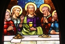 The Last Supper / The Tiffany Studios created several interpretations of The Last Supper in memorial windows and mosaics.  These works illustrate the stylistic range of the Studios as well as its creative handling of subject matter.
