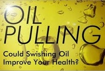 Health | Oil Pulling / Safe, simple, cheap & gentle. A home remedy you can do at home while getting ready for work or before bed.  Said to cure and prevent disease. You simply swish 1 tablespoon of oil around in your mouth for 15 to 20 minutes and spit it out (in the trash if you use coconut oil, as we do, since it will solidify in the drain). You can use sunflower oil or sesame oil too. Completely safe as long as you DO NOT SWALLOW IT.