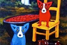 Blue Dog / A tribute to New Orleans native and artist George Rodrigue.