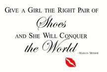 Shoes ❤️️ / Give a girl the right pair of shoes and she can conquer the world