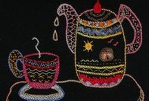 """African Folklore Embroidery / African Folklore Embroidery is owned by Leora Raikin, a South African native, living in Los Angeles. She was taught this creative and multicultural needlecraft by her mother. """"African Folklore Embroidery is my hobby and passion,"""" says Leora.  http://aflembroidery.com/index.htm / by Eileen Taylor"""
