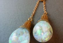 Opal jewellery / Opals are my favourite stones, especially the white opal.