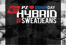 Hybrid #SweatJeans // Happy National Denim Day! / Happy National Denim Day! From the gym to a night out, with our Hybrid #‎SweatJean you'll never have to choose! Available at www.pointzero.ca / by Point Zero
